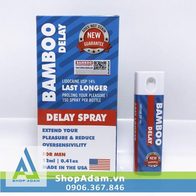 Bamboo Delay Spray Chai xịt lâu ra cho nam giới của Mỹ