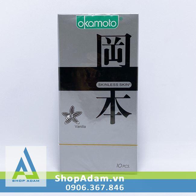 Bao cao su hương vani Okamoto Vanilla (Hộp 10 chiếc)