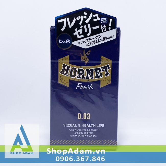 Bao cao su Jex Hornet Fresh 0.03 (Hộp 8 chiếc)