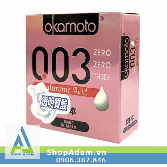 Bao Cao Su Okamoto 0.03 Hyaluronic Acid (Hộp 3 chiếc)