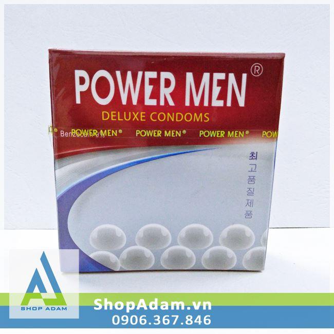 Bcs chống xuất tinh sớm Power Men Ngọc Trai (Hộp 3 chiếc)