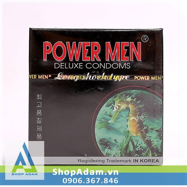 Bcs kéo dài thời gian quan hệ POWER MEN Long Shock Type (Hộp 12 chiếc)