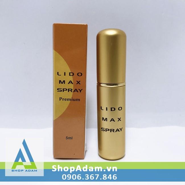 Chai xịt chống xuất tinh sớm của Nhật Bản Lido Max Spray Premium 5ml