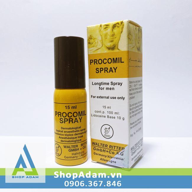 Chai xịt chống xuất tinh sớm Procomil (15ml) - Đức