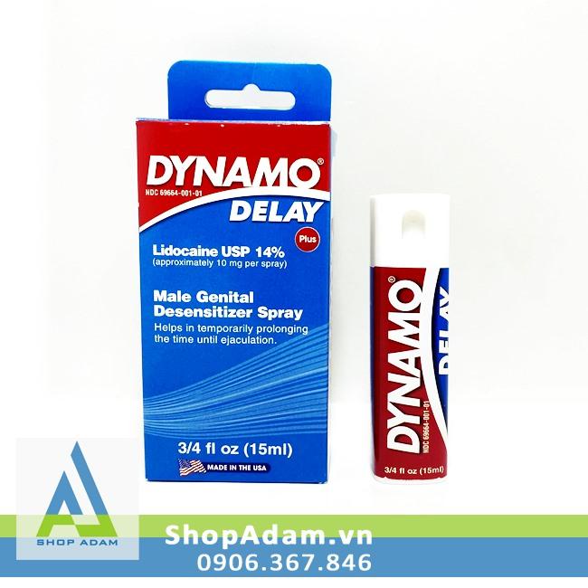 Chai xịt Dynamo Delay Plus 15ml (Mỹ) chống xuất tinh sớm cho nam giới