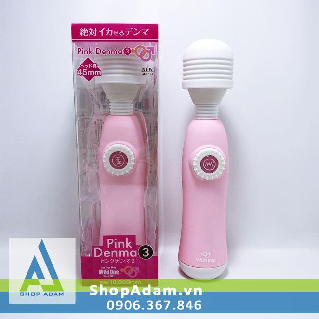 Chày rung cực mạnh massage toàn thân Pink Denma 3 - Nhật Bản