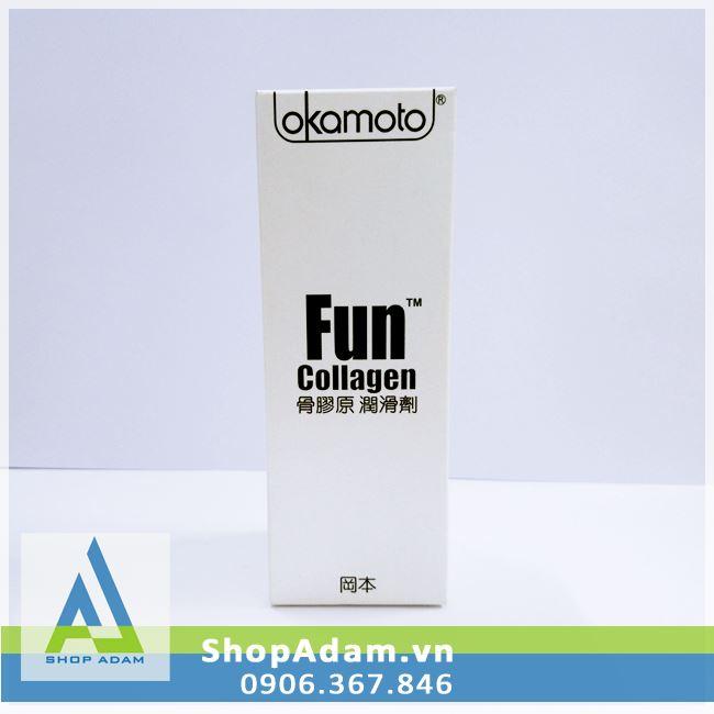 Gel bôi trơn gốc nước Okamoto Fun Collagen Nhật Bản - 60ml