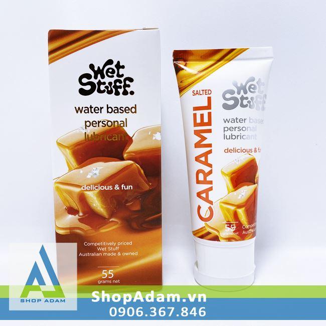 Gel Oral sex Wet Stuff Caramel vị mặn dùng cho quan hệ bằng miệng