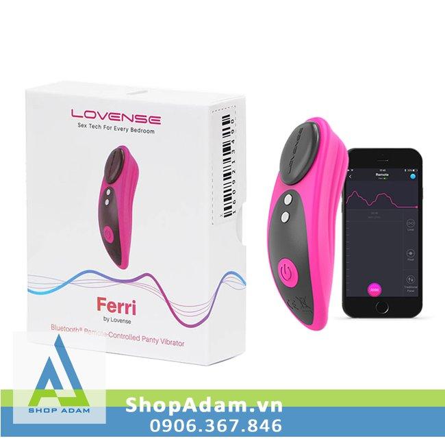 Lovense Ferri máy rung mini gắn quần lót điều khiển bằng điện thoại