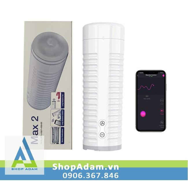 Lovense Max 2 âm đạo giả tự động cao cấp rung co bóp điều khiển từ xa bằng smartphone