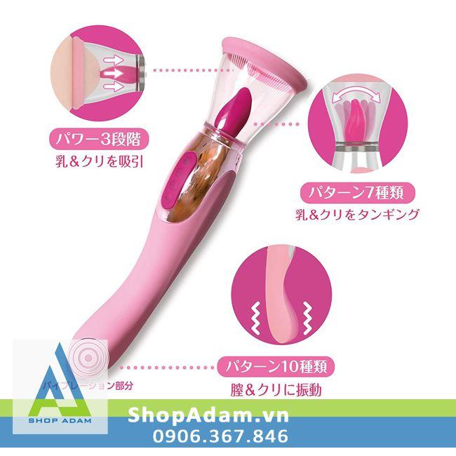 Lưỡi rung cao cấp có miệng hút và đuôi rung Woman Love Air Max - Nhật Bản