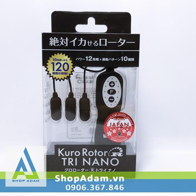 Máy trứng rung mini có 3 đầu Kuro Rotor Tri Nano - SSI Japan