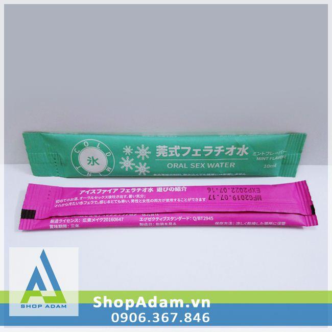 Nước tình yêu quan hệ đường miệng Oral Sex Water Mint Flavor và Hot Strawberry (2 gói)