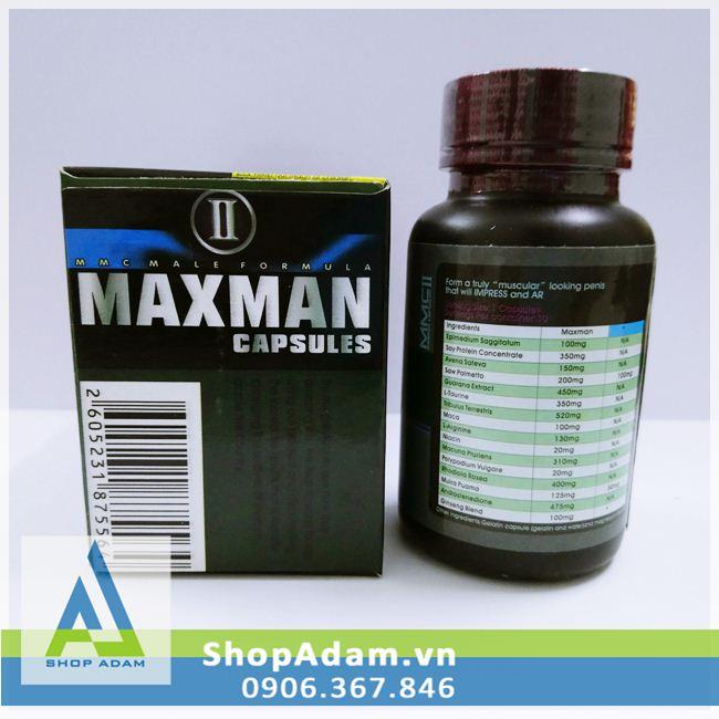 Thảo dược tăng cường sinh lực đàn ông Maxman II - Mỹ