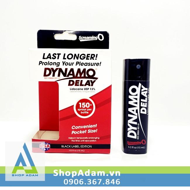 Thuốc xịt lâu xuất tinh cho nam giới Dynamo Delay Black Label Edition 15ml (Mỹ)