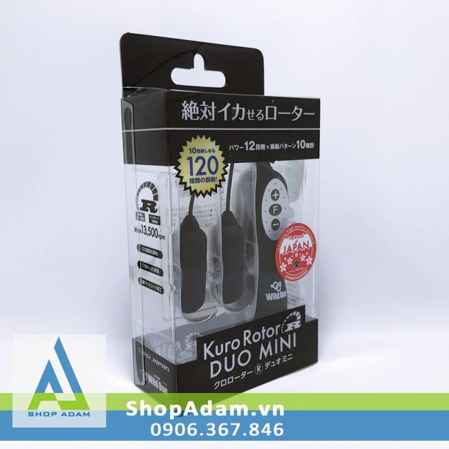 Trứng rung 2 đầu đa tần số Kuro Rotor Duo Mini - Nhật Bản