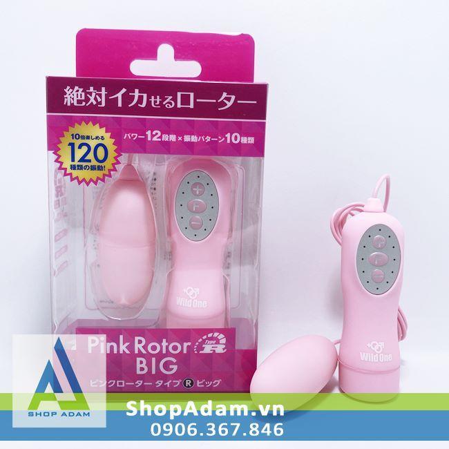 Trứng rung mini đa chế độ Pink Rotor BIG - Nhật Bản