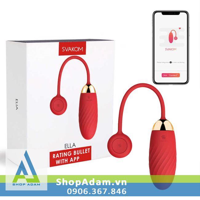 Trứng rung siêu mạnh điều khiển bằng điện thoại smartphone Svakom Ella