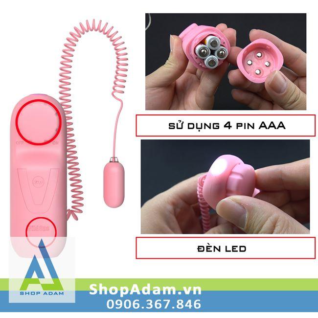 Trứng rung siêu nhỏ có đèn led Japanese Rotor
