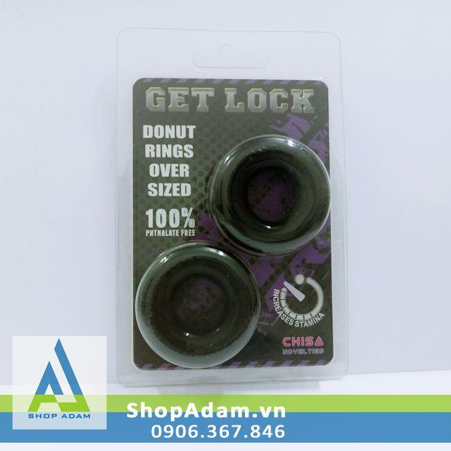 Vòng đeo dương vật silicon Get Lock (2 chiếc)