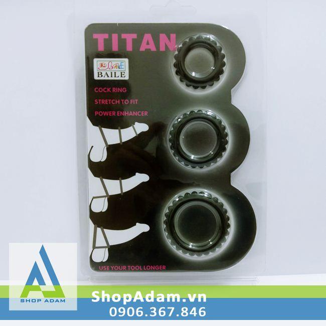 Vòng hãm dương Titan kích thích tăng khoái cảm (3 chiếc)