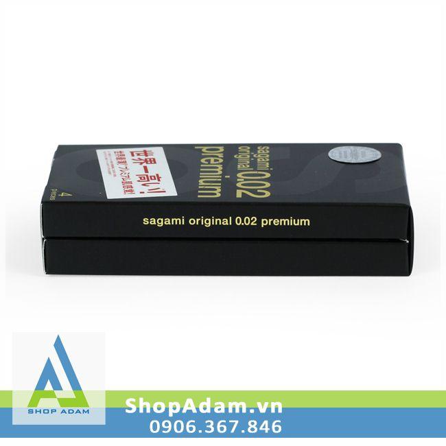 Bao cao su cao cấp SAGAMI Original 0.02 Premium (Hộp 4 chiếc)