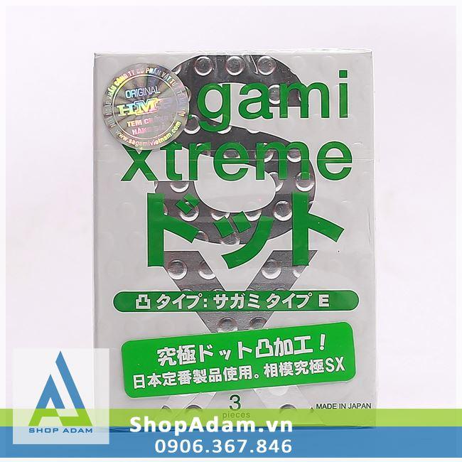 Bao cao su có gai SAGAMI Xtreme White (Hộp 10 chiếc)