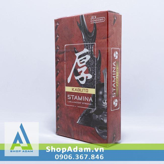 Bao cao su kéo dài thời gian Jex Kabuto Stamina (Hộp 8 chiếc)