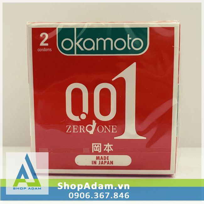 Bao Cao Su 0.01 Okamoto Zero One - Nhật Bản (Hộp 2 chiếc)
