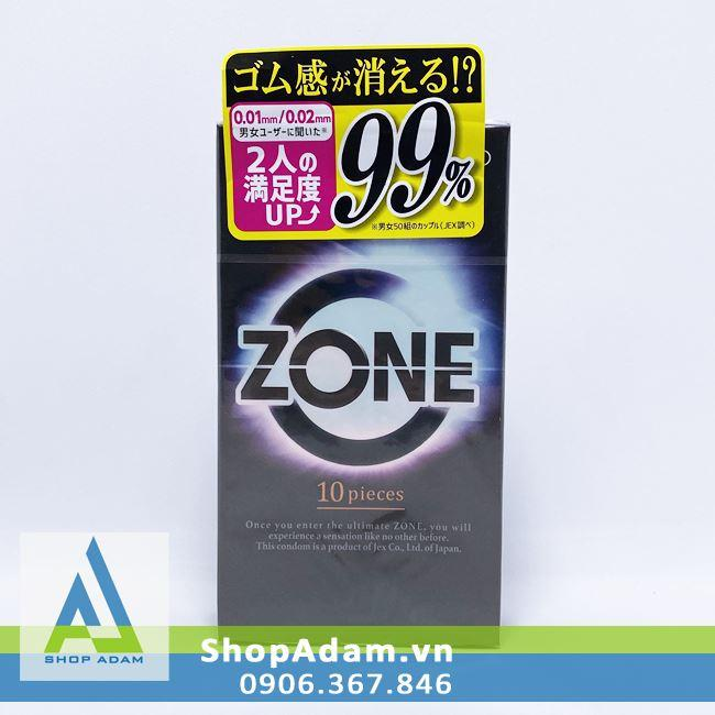 Bao cao su siêu mỏng Jex Zone 0.01 (Hộp 10 chiếc)