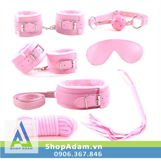 Bộ đồ chơi cảm giác mạnh 7 món màu hồng