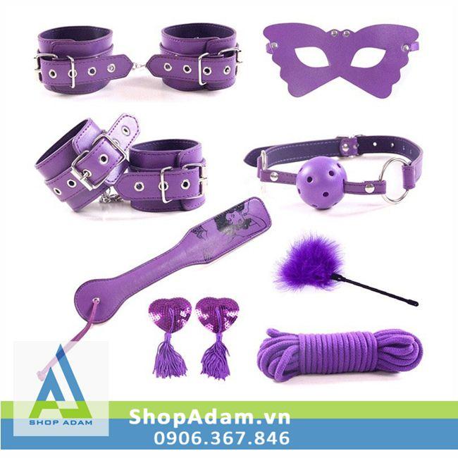 Bộ đồ chơi phòng the cao cấp 8 món màu tím