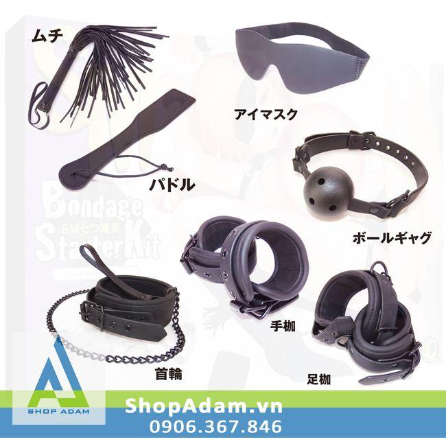 Bộ dụng cụ BDSM cao cấp 7 món Wild One Starter Kit - Nhật Bản