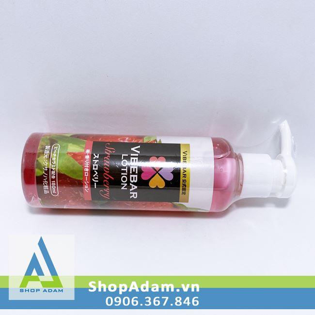 Gel bôi trơn có mùi dâu Vibebar Lotion Strawberry Nhật Bản 180ml