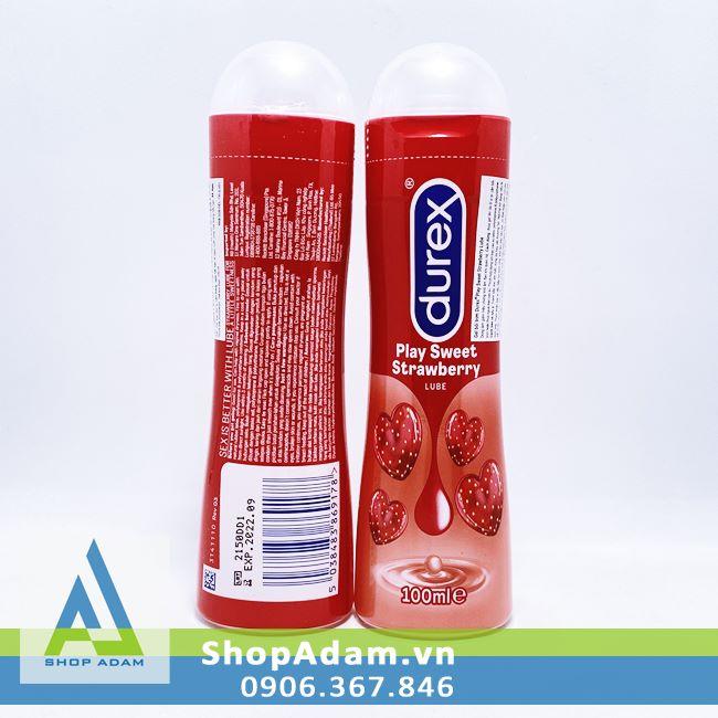 Gel bôi trơn hương dâu Durex Play Strawberry - 100ml