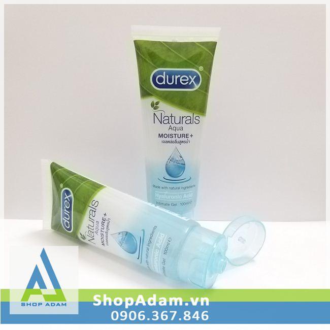 Gel Durex gốc nước Naturals Aqua Moisture + - 100ml