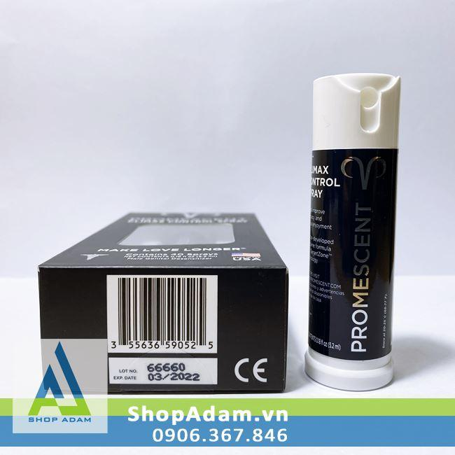 Thuốc xịt cao cấp Promescent 5.2ml - Mỹ