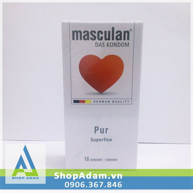Bao cao su Masculan Pur siêu mỏng (Hộp 10 chiếc)