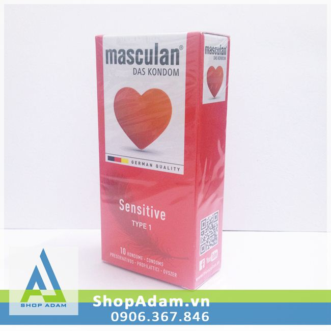 Bao cao su Masculan Sensitive - Đức (Hộp 10 chiếc)