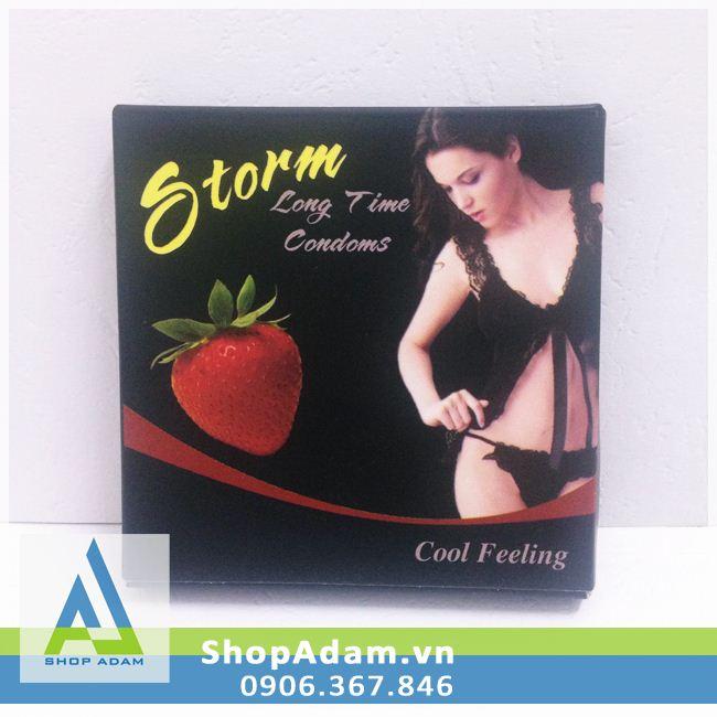 Bao cao su Bi Storm Strawberry (Hộp 10 chiếc)