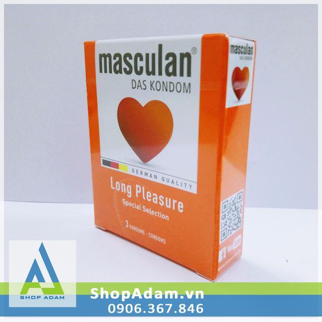 Bao cao su chống xuất tinh sớm Masculan Long Pleasure (Hộp 3 chiếc)