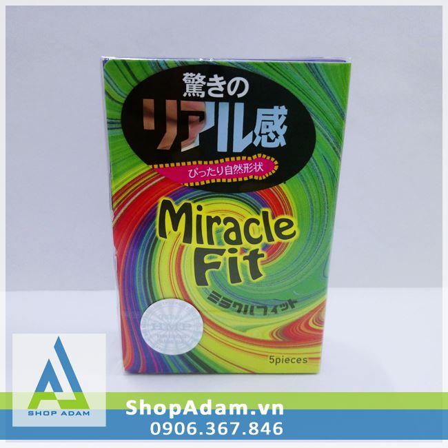 Bao cao su cỡ nhỏ Sagami Miracle Fit (Hộp 10 chiếc)