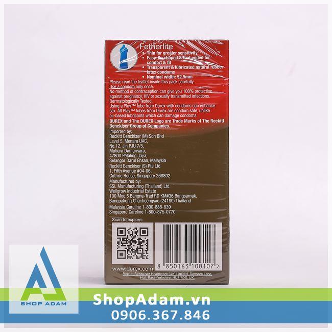 Bao cao su siêu mỏng Durex Fetherlite (Hộp 12 chiếc)