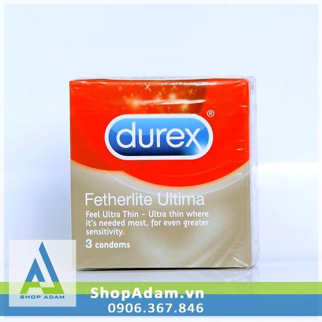 Bao cao su Thái Lan siêu mỏng DUREX Fetherlite Ultima (Hộp 3 chiếc)