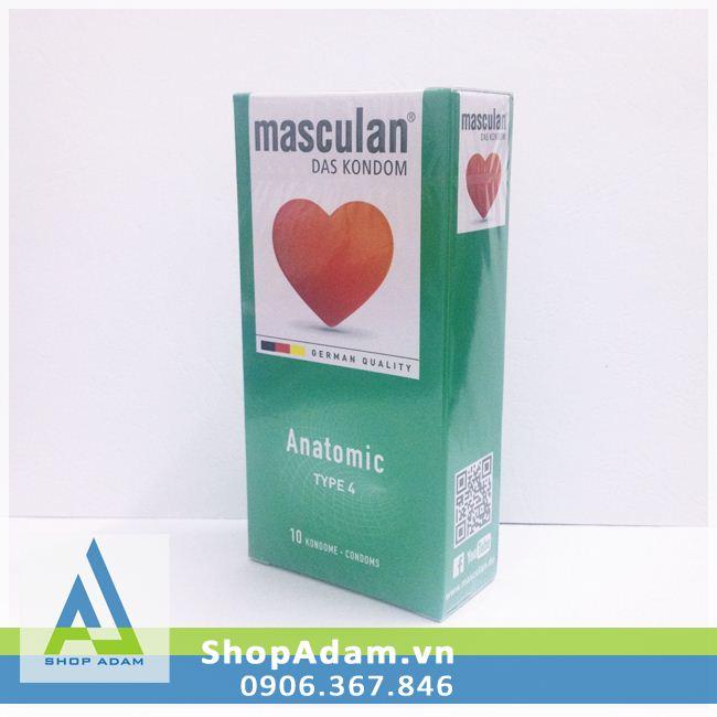 Bao cao su hương dâu Masculan Anatomic - Đức (Hộp 10 chiếc)