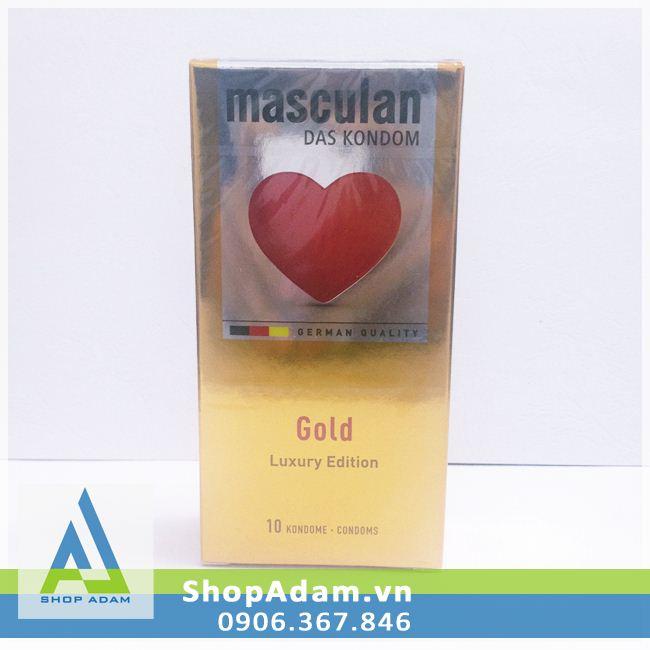 Bao cao su hương vani Masculan Gold - Đức (Hộp 10 chiếc)