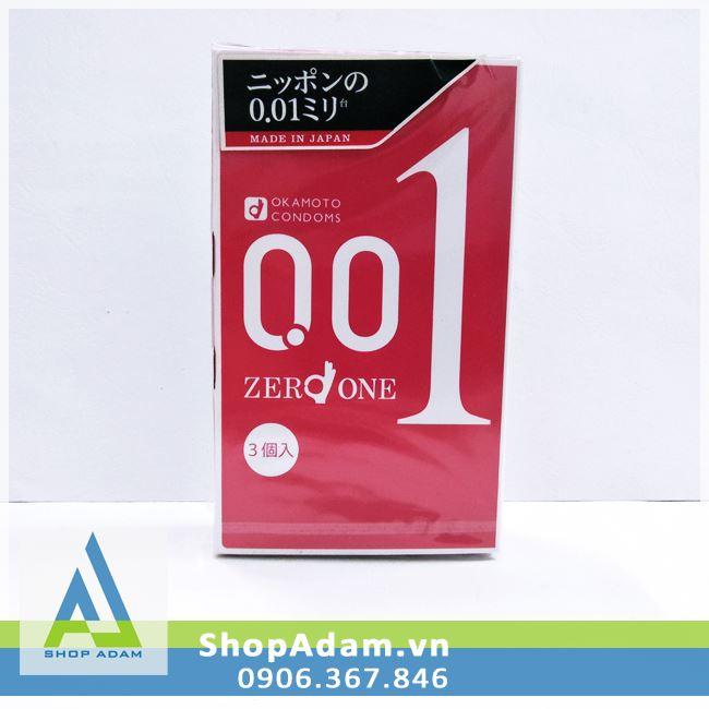 Bao cao su Okamoto 0.01 Zero One (Hộp 3 chiếc)