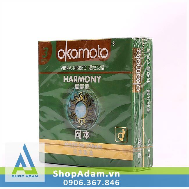 Bao cao su Nhật Bản siêu mỏng OKAMOTO Harmony (Hộp 3 chiếc)