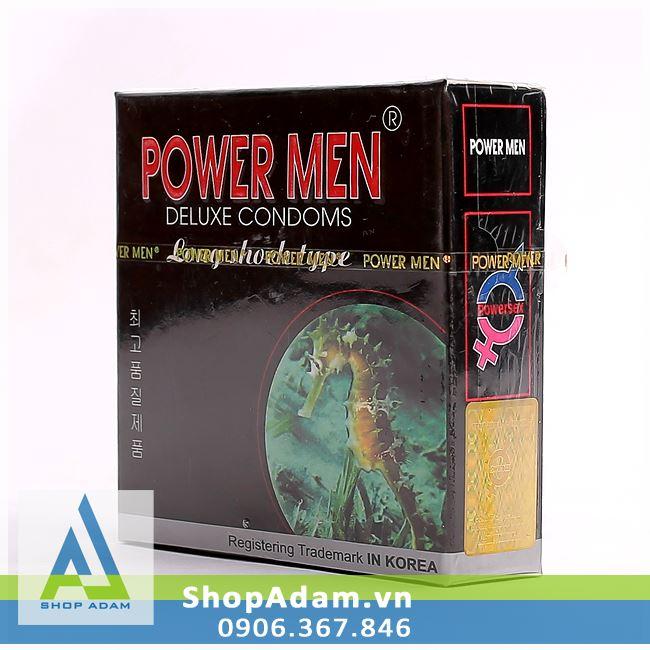 Bao cao su Hàn Quốc POWER MEN Long Shock Type (Hộp 3 chiếc)