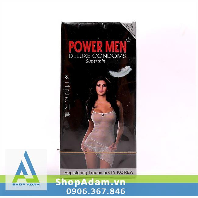 Bao cao su Hàn Quốc POWER MEN Superthin (Hộp 12 chiếc)